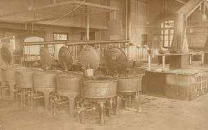 FOOD PROCESSING EQUIPMENT ANTIQUE REAL PHOTO POSTCARD RPPC occupational