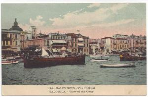 SALONICA, Greece, 00-10s; Boat at quay
