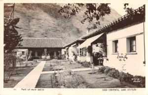 Lake Atitlan Guatemala Casa Contenta Main Patio Real Photo Postcard J81295
