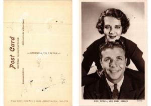 CPA Dick Powell and Ruby Keeler FILM STAR (594349)
