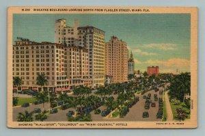 Biscayne Boulevard Flagler Street Miami Florida Postcard