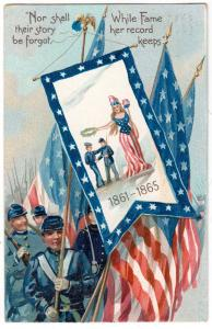 1861-1865 Nor Shall Their Story Br Forgot - Decoration Day