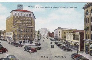 TEXARKANA, Arkansas/Texas, 1930-40s; State Line Avenue, Looking North