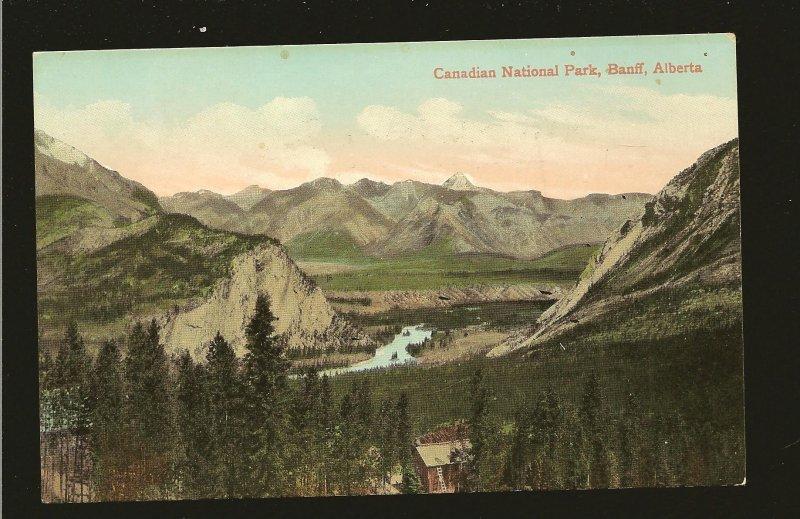 Canadian National Park Banff Alberta Valentine & Sons Color Postcard Unposted