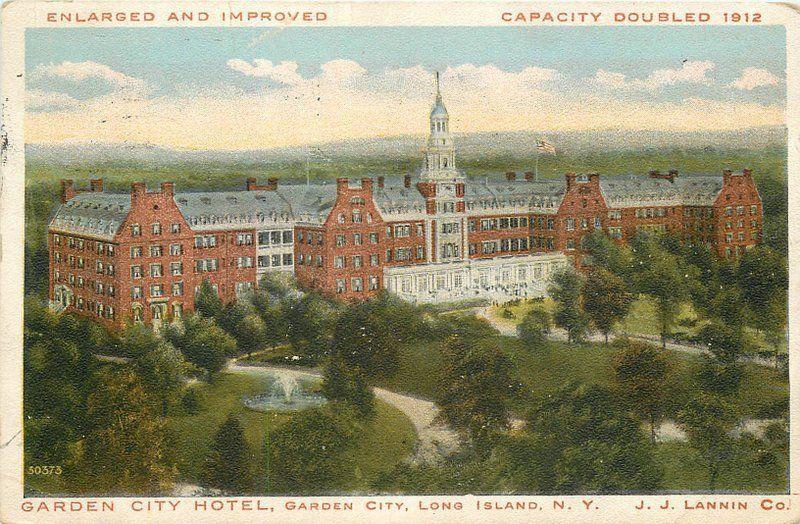 Birdseye View Garden City Hotel 1916 Long Island New York Postcard 628