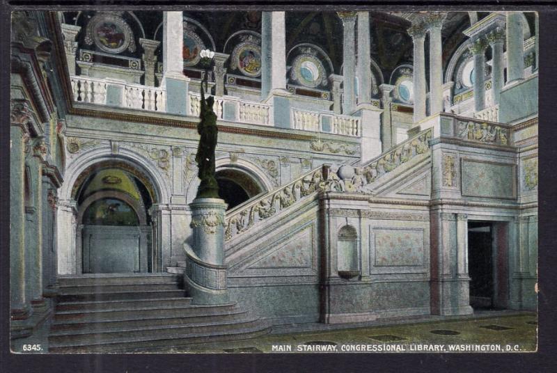 Main Stairway,Congressional Library,Washington,DC