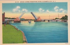 North Carolina Elizabeth City Bridge Across Pasquotank River