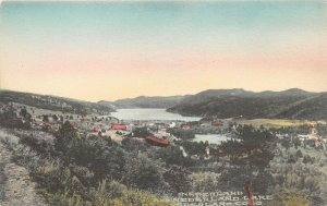 LPS01 Nederland Colorado Nederland Town and Lake View Hand Colored Postcard