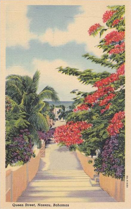 Queen Street, Nassau, Bahamas, 30-40s