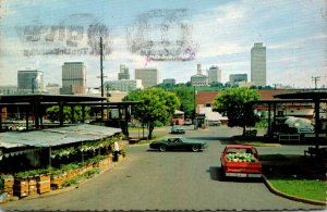 Tennessee Nashville Skyline Seen From The Farmers Market 1978