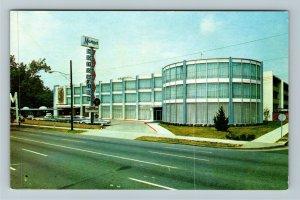 Charlotte NC-North Carolina, The Manger Motor Inn, Chrome Postcard