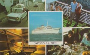 Swedish Lloyd Boat Ship Dining Restaurant Lovers Bedroom 1970s Shipping Postcard
