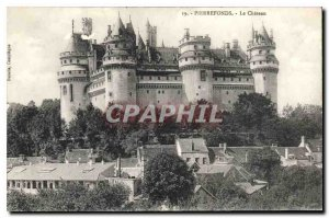 Old Postcard Pierrefonds Chateau