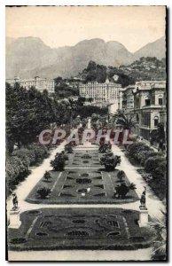 Old Postcard Menton Public Gardens