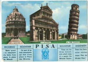 Italy, PISA Souvenir, 1968 used Postcard