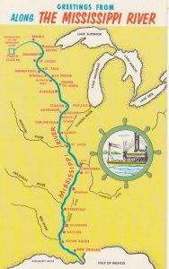 Map ; Mississippi River , 50-60s