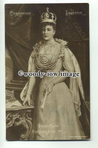 r0593 - Queen Mary wife of King George V - postcard