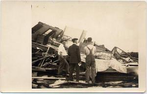 RPPC The Hurricane we had in Homer NY, New York - Disaster