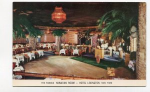 Vintage Postcard HOTEL LEXINGTON Hawaiian Room Restaurant NY NYC