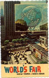 NY - New York World's Fair 1964-65. Unisphere and Rockefeller Center