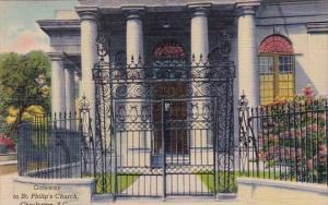 Gateway To Sant Philips Church Charleston South Carolina