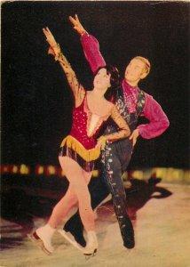 Rhythm Beguine Olga Pushkina and Volodimir Bilitsky ice ballet dancers postcard