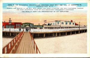 New Jersey Atlantic City Hackney's Restaurant Employees On The Boardwalk...