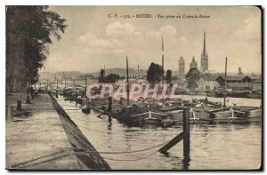 Old Postcard Rouen view taken courses Queen Boat