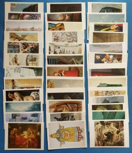 Collection of 37 Art Postcards, Sculptures Assemblage Artists Postcrossing JB55