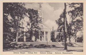 Massachusetts Amherst College Johnson Chapel College Row Albertype