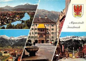 Alpenstadt Innsbruck, Gesamtansicht Golden Roof Fountain Street Statue Bridge