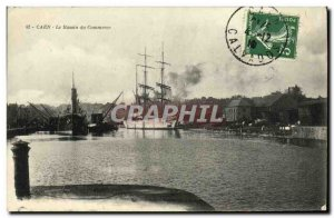 Old Postcard Caen Basin Trade Boat Sailboat