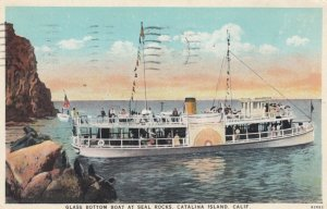 CATALINA ISLAND, California, 1930; Glass Bottom Boat at Seal Rocks