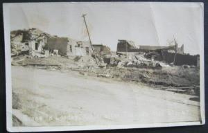Scene In Leedey Oklahoma After Tornado May 31 1947 Real Photo Postcard