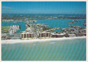Florida Clearwater Beach Aerial Panoranmic View Looking East From The Gulf Of...