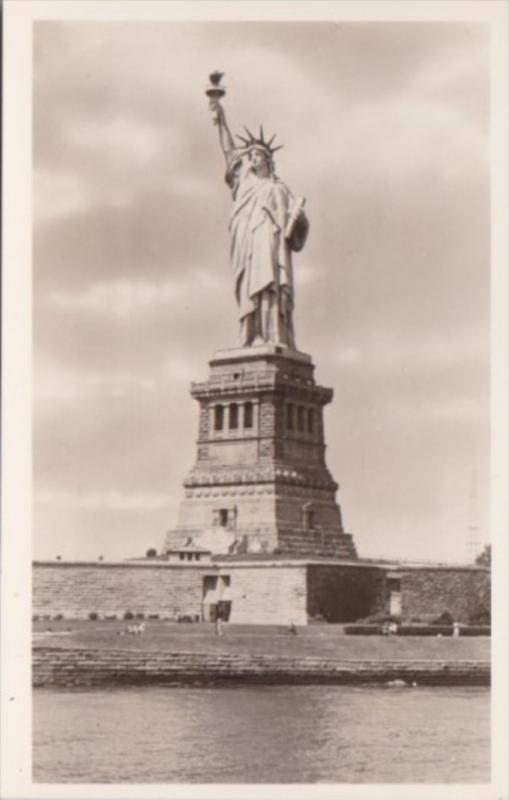 New York City Statue Of Liberty Bedloes Island Real Photo