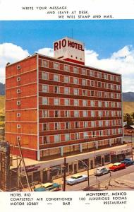 Mexico Old Vintage Antique Post Card Hotel Rio Monterrey Unused