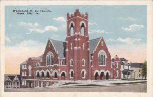 Church Whitefield Methodist Episcopal Church Sioux City Iowa