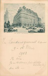UK The Hotel Metropole London 1903 Postcard 01.71