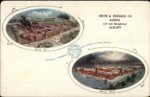 Smith & Herrick Co Agents Albany NY - BOSTON RUBBERS Factories Postcard