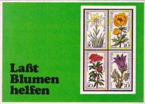 Stamps Flowers Lasst Blumen Helfen Let Flowers Help Germany