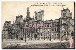 Old Postcard The Paris City Hall