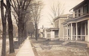 C69/ Pataskala Ohio Postcard Real Photo RPPC 1908 South Main Street Homes