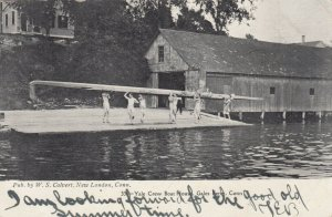 GALES FERRY , Connecticut , 1907;  Yale Crew Boat House