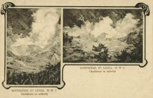 St. Lucia, B.W.I., SOUFRIERE, Cauldrons in Activity (1900s) Tuck Postcard
