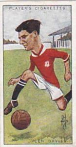 Players Vintage Cigarette Card Footballers Caricatures RIP 1926 No 10 Len Davies