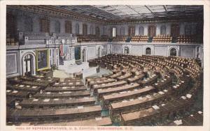Hall Of Representatives U S Capitol Washington DC 1916