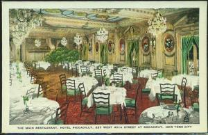 Restaurant, Hotel Piccadilla, NYC