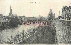 Old Postcard Metz Middle Bridge