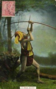 burma, A Shan Archer (1921) D.A. Ahuja Postcard No. 27